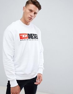 Read more about Diesel s-crew-division industry logo sweatshirt white - white