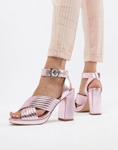 Read more about Paul joe sister metallic heeled shoe - rose pink