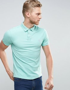 Read more about Polo ralph lauren pique polo slim fit polo player in light green - bayside green