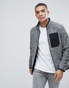 Read more about Abercrombie fitch black label sports full zip trail fleece in grey - grey