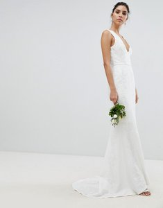 Read more about Chi chi london bridal lace maxi dress - ivory