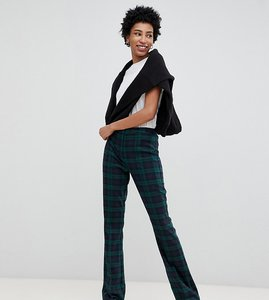Read more about Asos design tall slim kick flare trousers in nightwatch check