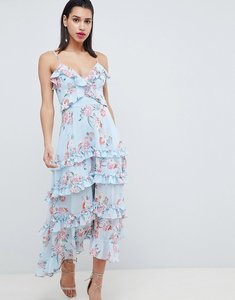 Read more about Forever new floral printed maxi dress with tie back