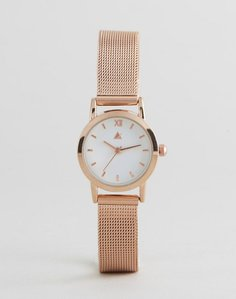 Read more about Asos curve mini rose gold mesh watch - rose gold