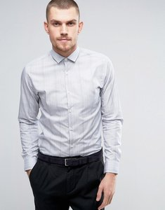 Read more about Selected homme slim shirt in faint check - white