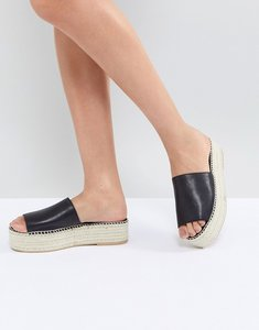 Read more about Vagabond celeste black leather slide espadrilles - black