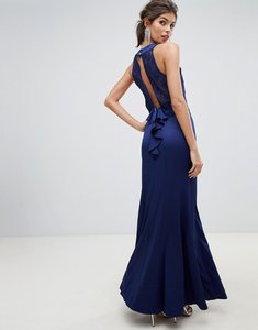 Read more about Little mistress lace overlay bodice 2 in 1 sheath maxi dress with exposed back