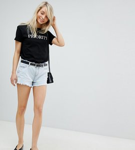 Read more about Urban bliss distressed waist and hem high waist shorts