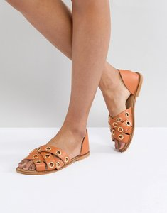 Read more about Asos justify leather summer shoes - amber leather