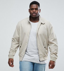 Read more about Brave soul plus summer lined harrington jacket - stone