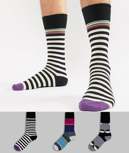 Read more about Paul smith stripe polka dot socks 3 pack - multi