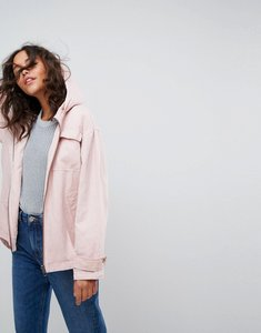Read more about Asos washed jacket with borg lining - pink