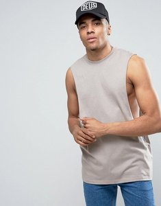 Read more about Asos vest with extreme dropped armhole in green - schofield