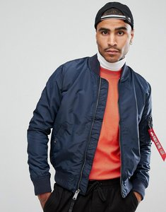 Read more about Alpha industries ma-1 tt bomber jacket slim fit in navy - rep blue