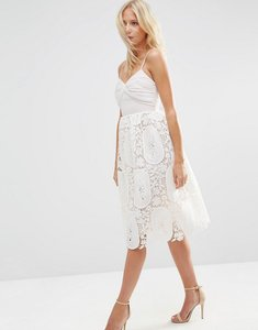 Read more about Asos prom dress with pleat bust and lace skirt - nude