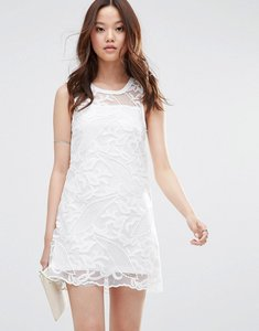 Read more about Girl in mind louisa crochet mesh mini dress - white