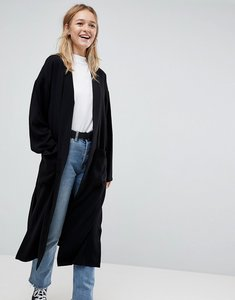 Read more about Asos design soft duster coat - black