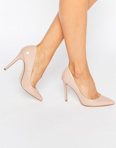 Read more about Faith chloe pointed court shoes - nude