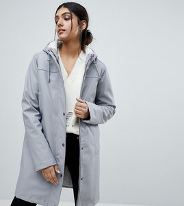 Read more about Asos tall borg raincoat - grey