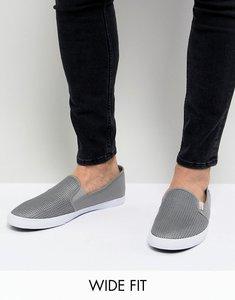 Read more about Original penguin wide fit mesh plimsolls in grey - grey
