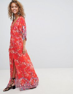 Read more about Miss selfridge kimono sleeve floral printed maxi dress - multi