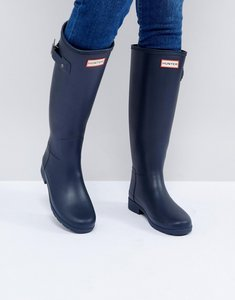 Read more about Hunter original refined tall navy wellington boots - navy