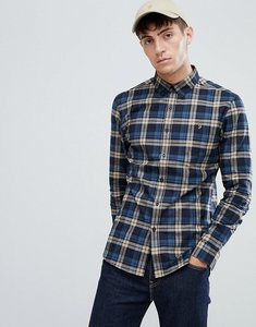 Read more about Farah radley slim fit check shirt in navy - navy
