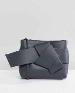 Read more about French connection knotted crossbody bag - graphite grey