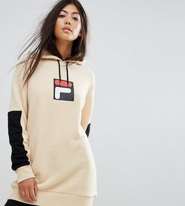 Read more about Fila petite hoodie with contrast logo detail - beige