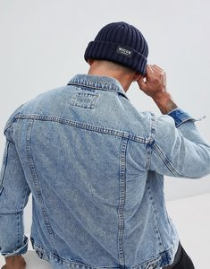 Read more about Nicce london fisherman beanie in navy - navy