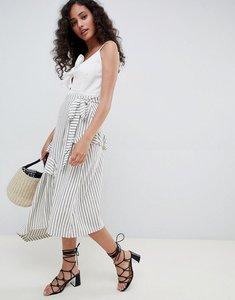 Read more about Asos design stripe maxi skirt with asymmetric wrap - stripe