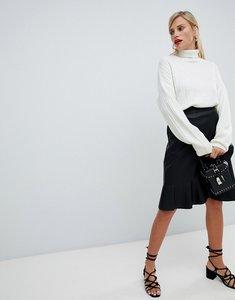 Read more about Vila flounce wrap skirt - black