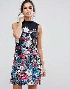 Read more about Little mistress bouquet print mini shift dress - print