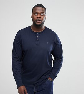 Read more about French connection plus long sleeve henley - navy