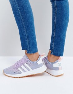 Read more about Adidas originals flb primeknit trainer in lilac - lilac