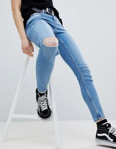 Read more about New look hallie fray hem skinny jean - blue