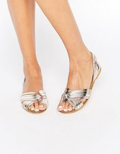 Read more about Asos juza leather summer shoes - multi metallic