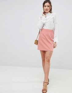 Read more about Asos design tailored a-line mini skirt - terracotta
