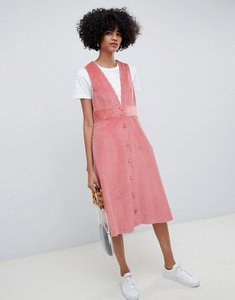 Read more about Max co corduroy a-line dress - rose
