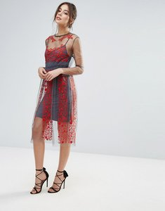 Read more about Little white lies stargazer embroidered dress - red