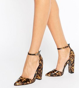 Read more about Asos penalty pointed high heels - tortoise