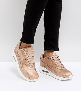 Read more about Nike air max 90 premium trainers in metallic cashmere - beige