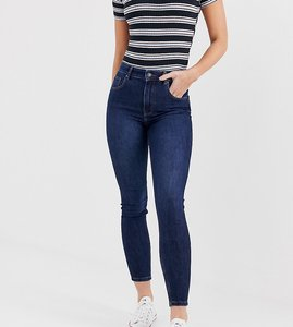 Read more about Bershka super high waisted skinny jean in navy blue