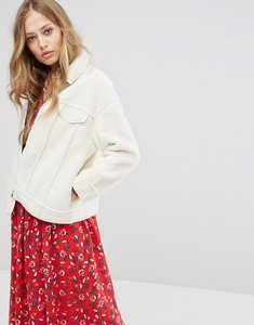 Read more about Suncoo faux shearling jacket - off white