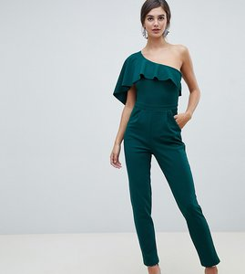 Read more about City goddess tall one sleeve wide leg jumpsuit