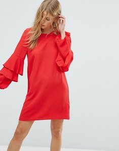 Read more about New look tiered ruffle sleeve dress - red