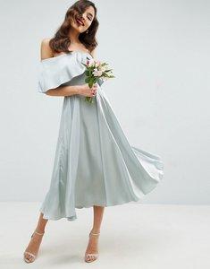 Read more about Asos wedding bardot fold prom midi dress - mint