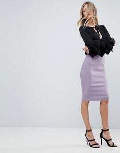 Read more about Asos high waisted pencil skirt - lilac