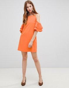 Read more about Glamorous cold shoulder dress - orange