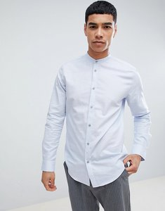 Read more about Esprit slim fit smart shirt with grandad collar and easy iron - light blue